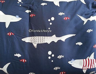 Awesome Sharks ☆ Full/Queen Comforter Set ☆ 5-pc