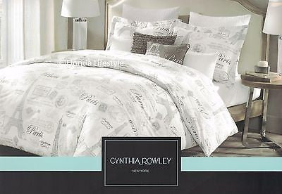 I Love Paris ❤ Full Queen Comforter Set ❤ 5-pc