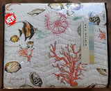 Tropical Marine Life ☆ Twin Quilt Set ☆ 3-pc