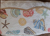 ☆ Tropical Seashell ☆ Full/Queen Quilt Set ☆ 3-pc
