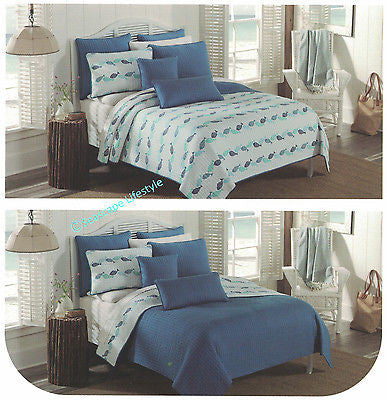 ☆ Tropical Fish ☆ Twin Quilt Set ☆ 2-pc
