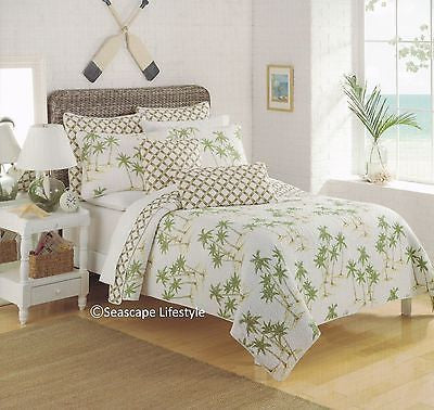 ☆ Tropical Island Palm Trees ☆ Twin Quilt Set ☆ 2-pc
