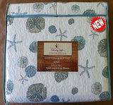 Tropical Sand Dollars ☆ King Quilt Set ☆ 3-pc