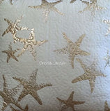 Tropical Gold Starfish ☆ Full/Queen Quilt ☆  3-pc
