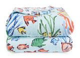 Underwater Tropical Fish ☆ Full/Queen Quilt Set ☆ 3-pc