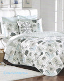 Tropical Marine Life ☆ Full/Queen Quilt Set with Pillow ☆ 4-pc