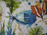 Tropical Reef Fish ☆ Full/Queen Quilt Set ☆ 1-pc
