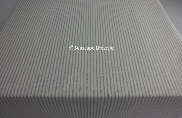 Oxford Style Queen Sheet Set ☆ TAUPE 100% Cotton ☆ 4-pc