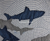 Shark Attack ☆ Twin Quilt Set w/ Pillow ☆ 4-pc