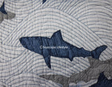 Shark Attack ☆ Full/Queen Quilt Set w/ Pillow ☆ 4-pc