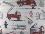 I Love Fire Trucks ❤  Full/Queen Comforter Set with Quilt ❤ 6-pc