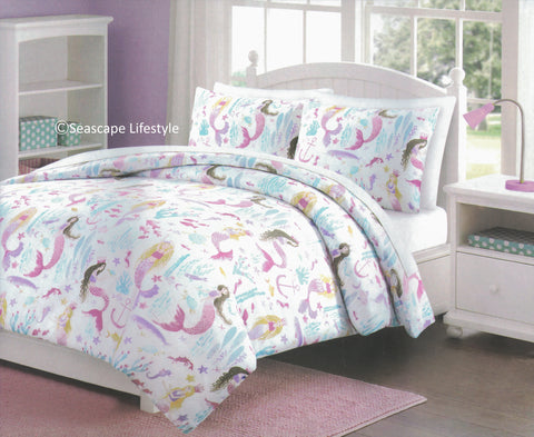 Mermaid Princess ❤ Full/Queen Comforter Set ❤ 3-pc