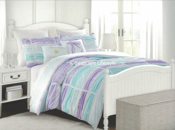 I LOVE MERMAIDS ❤ Full/Queen Comforter Set with Pillows ❤ 5-pc