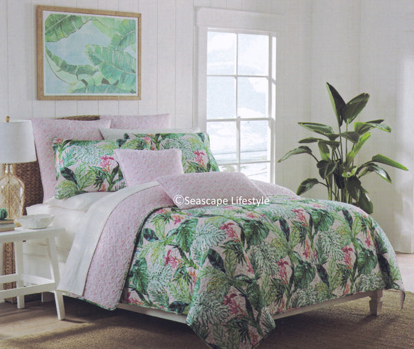 Lush Tropical Landscape ☆ Full/Queen Quilt Set ☆ 3-pc