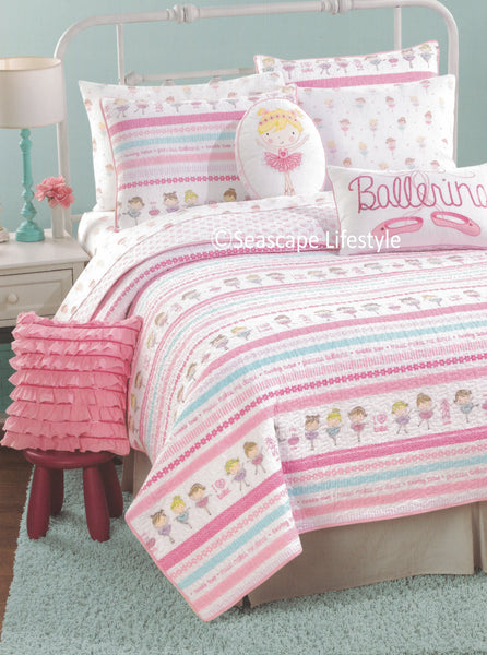 I Love Ballet ❤ Twin Quilt Set ❤ 2-pc