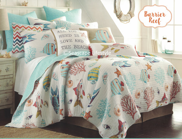 Tropical Fish ☆ Full/Queen Quilt ☆ 1-pc