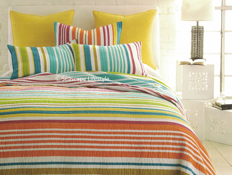 Beach House Stripes ☆ Twin Quilt Set ☆ 2-pc