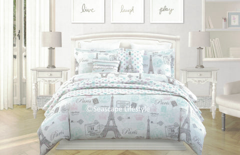 I Love Paris ❤ Full/Queen Comforter Set  ❤ 3-pc