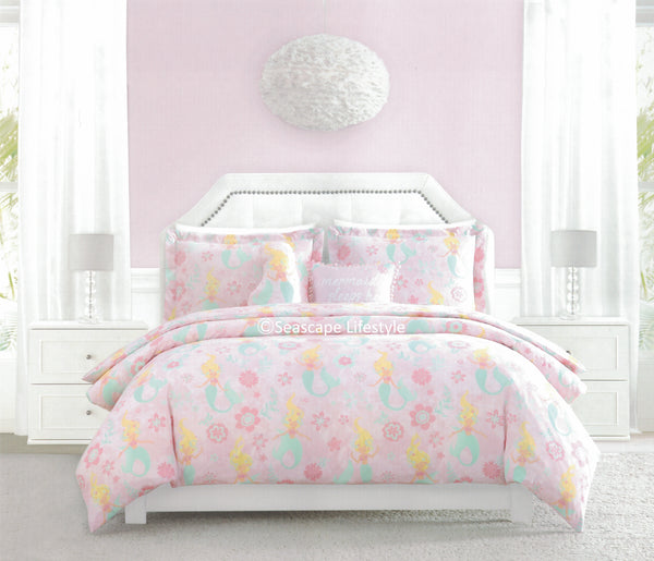 MERMAIDS, MERMAIDS, MERMAIDS ❤ Twin Comforter Set with Pillows ❤ 4-pc