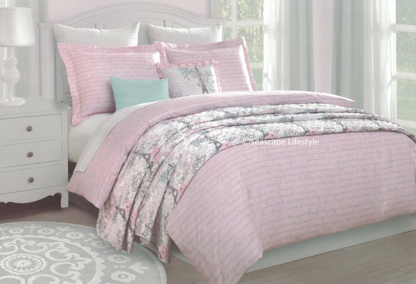 I Love Paris ❤ Full/Queen Comforter Set with Coverlet ❤ 6-pc