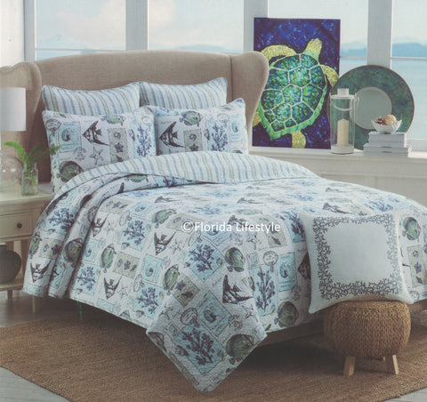 Tropical Marine Life ☆ King Quilt ☆ 1-pc