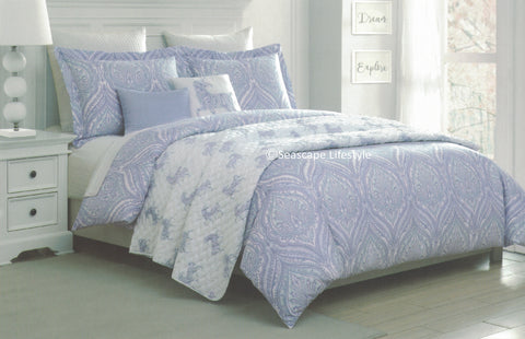 I Love Unicorns ❤ Full/Queen Comforter Set with Quilted Coverlet ❤ 6-pc