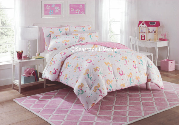 LITTLE MERMAIDS ❤ Full/Queen Comforter Set ❤ 3-pc