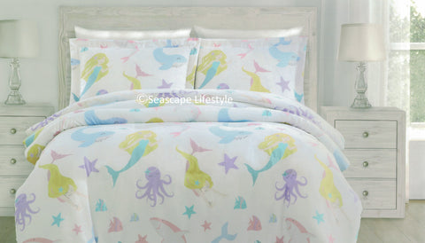 MERMAID SWIM ❤ Full/Queen Comforter Set ❤ 3-pc