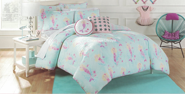 I LOVE MERMAIDS ❤ Twin Comforter Set with Pillows ❤ 4-pc