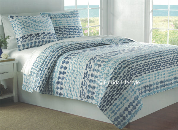 Tropical Seashells ☆ King Quilt Set ☆ 4-pc