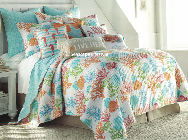 Tropical Reef Fish ☆ Full/Queen Quilt ☆ 3-pc