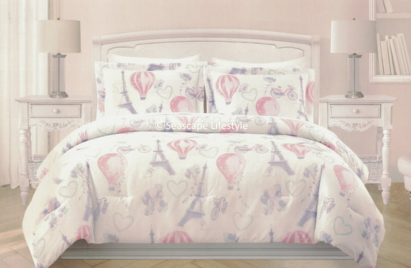 Springtime in Paris ❤ Full/Queen Comforter Set ❤ 3-pc