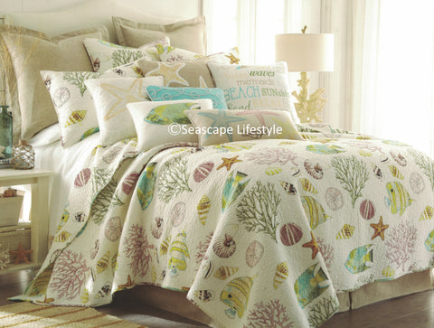 Tropical Sealife ☆ King Quilt Set ☆ 4-pc