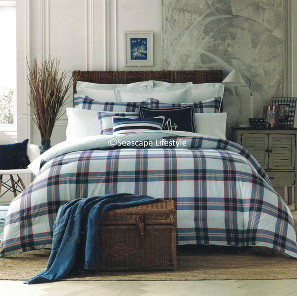 Surf Plaid ☆ Full/Queen Comforter Set ☆ 3-pc