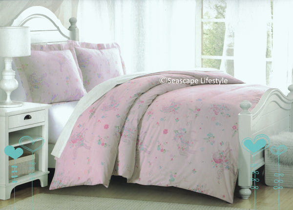 Prancing Unicorns ❤ Full Comforter Set + Sheet Set ❤ 7-pc