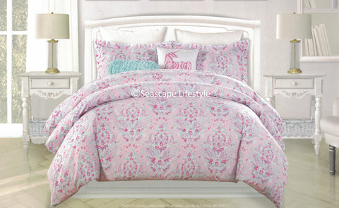 Paisley Unicorns ❤ Full/Queen Comforter Set ❤ 5-pc