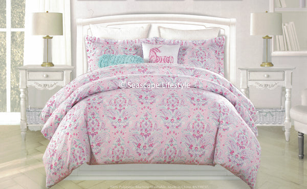 Paisley Unicorns ❤ Twin Comforter Set ❤ 4-pc