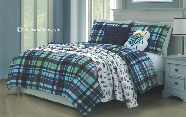 Creepy Crawly Bugs ❤ Twin Comforter Set ❤ 5-pc