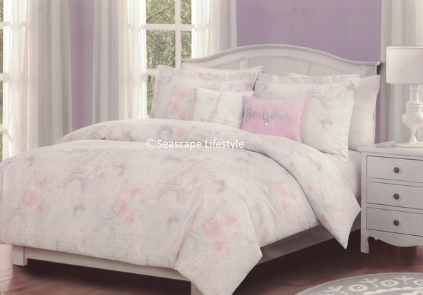 Springtime in Paris ❤ Twin Comforter Set ❤ 4-pc