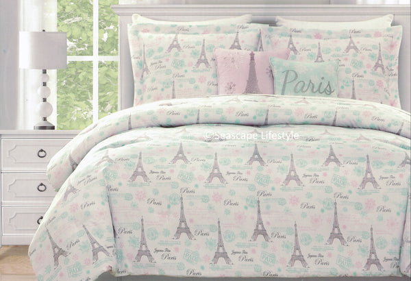 I Love Paris ❤ Twin Comforter Set ❤ 4-pc