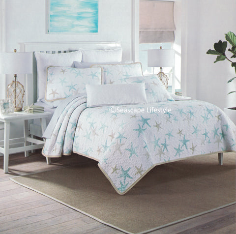Tropical Starfish ☆ Twin Quilt ☆ 2-pc