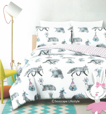 OMG, just too CUTE FOREST CRITTERS ❤ Full/Queen Comforter Set ❤ 3-pc