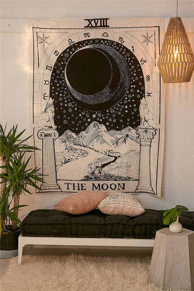 Tarot Tapestry Wall Hanging Sun Moon Star Strength The Lovers Wheel of  Fortune Fate Future