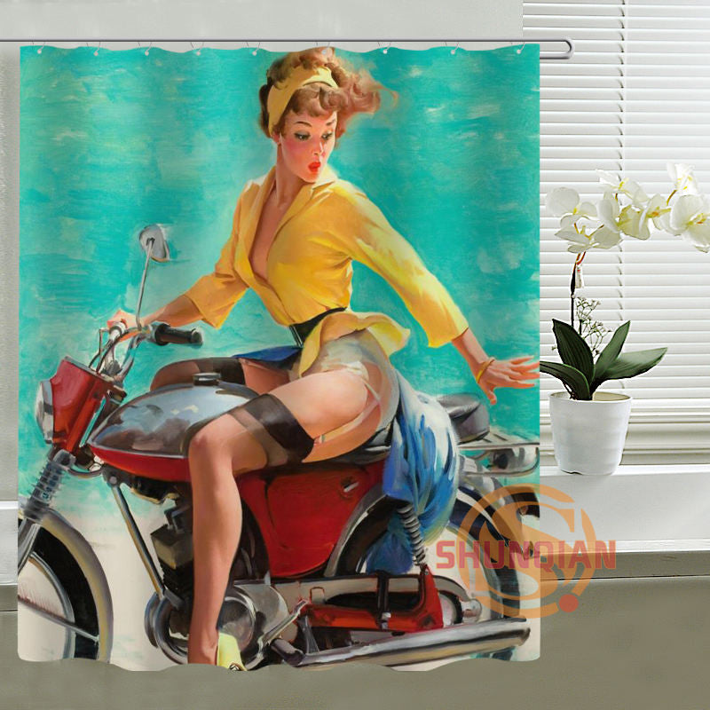 22 Pin Up Girls Shower Curtain Designs