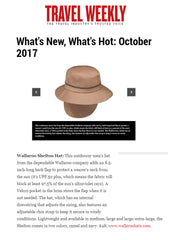 0c315b95a30 The Shelton Hat is a must have for travel. Travel Weekly loves the ...