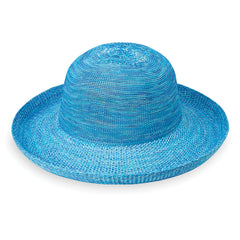 Wallaroo Hat News Victoria Hat in mixed aquq