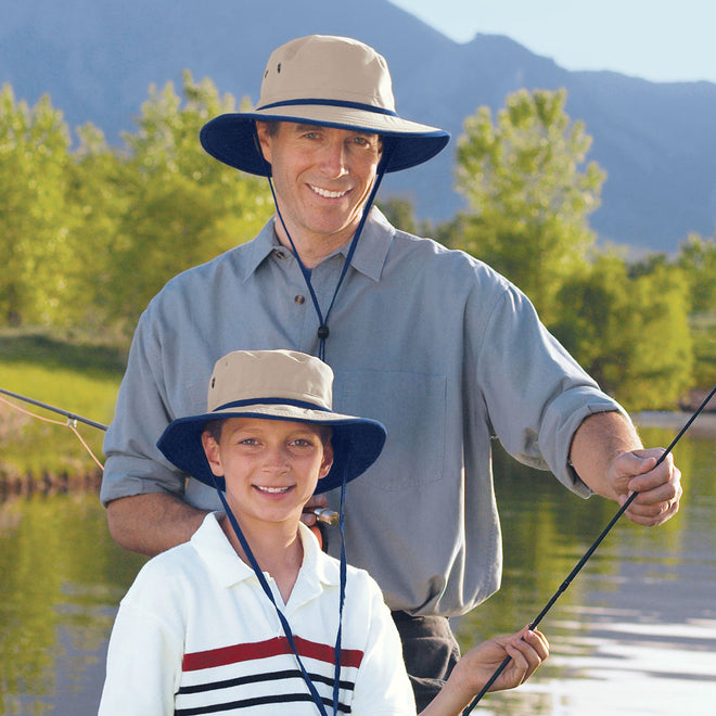 The explorer cap comes in both adult and children's sizes for all of your outdoor adventures.