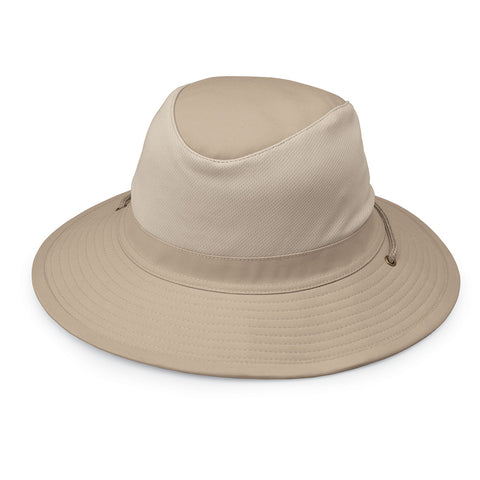 Jackson-Camel__This men's camel hat is perfect for the outdoors with a UPF 50+ rating and an adjustable chin strap.