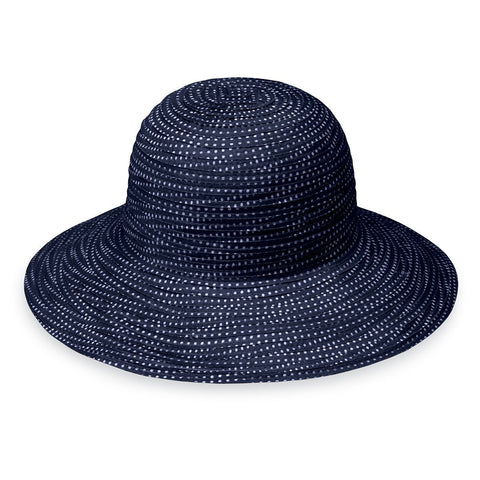 Petite Scrunchie-Navy/White__The Wallaroo petite scrunchie hat is a medium brimmed kid's hat that comes in four colors.