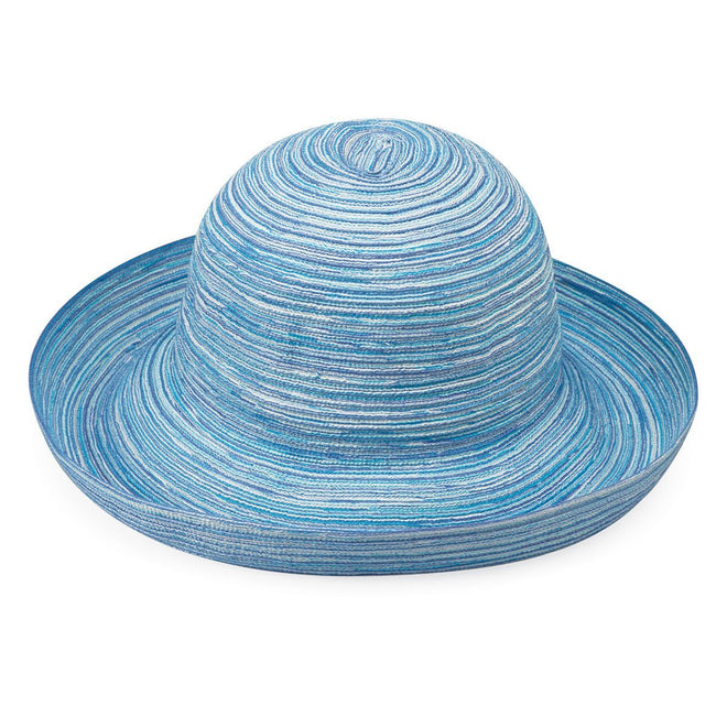 This light blue hat has a medium brim and comes in several other colors.
